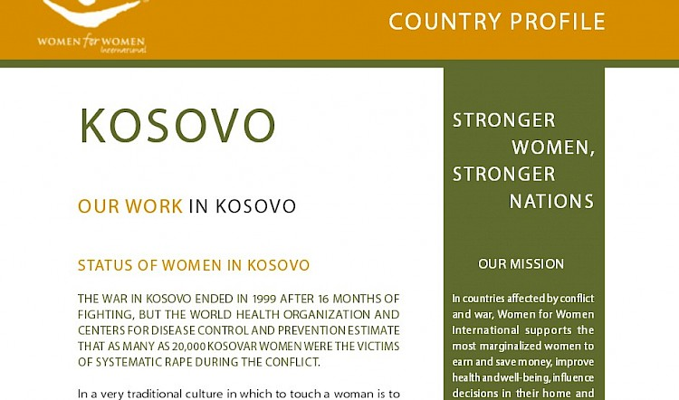WfWI - Kosovo Country Profile