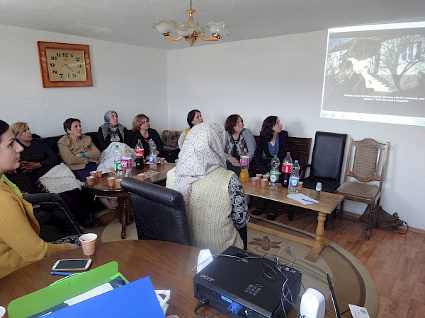 Information sessions/trainings with women in the villages of Biqevc (Kacanik) and Skifteraj (Viti) on women's property and inheritance rights