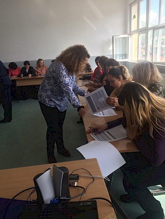 Information sessions/trainings with women in the villages of Remnik and Sodovina in the municipality of Viti on women's property and inheritance rights