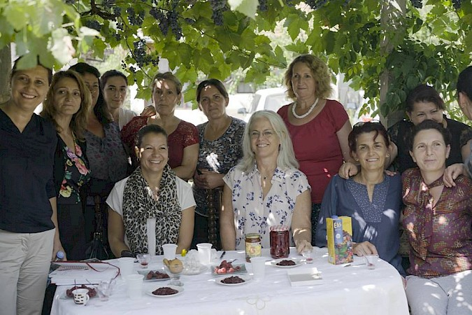 WfWI CEO Laurie Adams visits women of Ferizaj