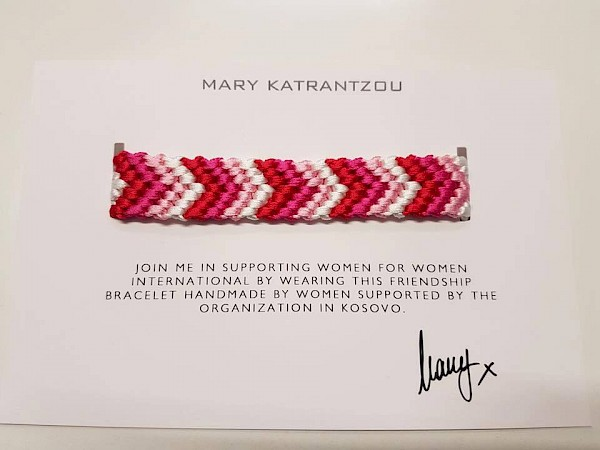 Handmade bracelets made by program women of KW4W in London Fashion Week