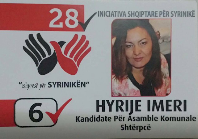 Hyrije Ymeri, graduated woman from WfWI program candidate for Municipal Assembly in Shtërpcë