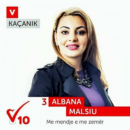 Albana Malsiu, graduated woman in WfWI program candidate for Municipal Assembly in Kaçanik