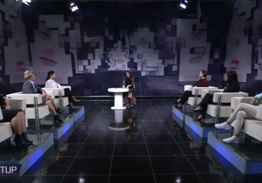 "Beneficiaries of the grant ""Start-Up"" from the WOMEN project in the show ""Start Up"" on TV21"