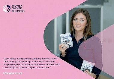 "Besijana Sylka is the beneficiary of the Start-UP grant through the project ""Women's opportunities in the market, economy and networking"" WOMEN"