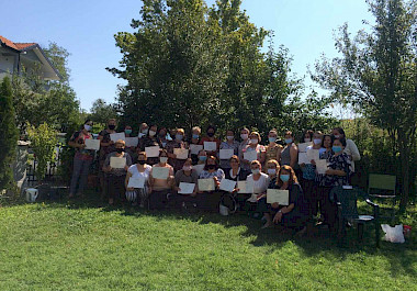 Graduation ceremony of the women of Klina e Epërme, Mogila and Vaganica