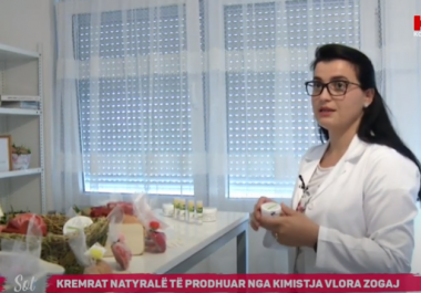 Vlora Zogaj from Hira Natural & Organic Skin Care beneficiary of a start-up investment by our organization in the show Today on KTV